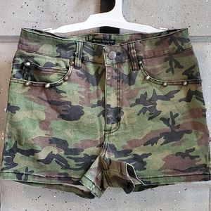 TRIPP NYC - Studded Camo Shorts